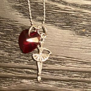 Swarovski Crystal Birthstone Ballerina Necklace